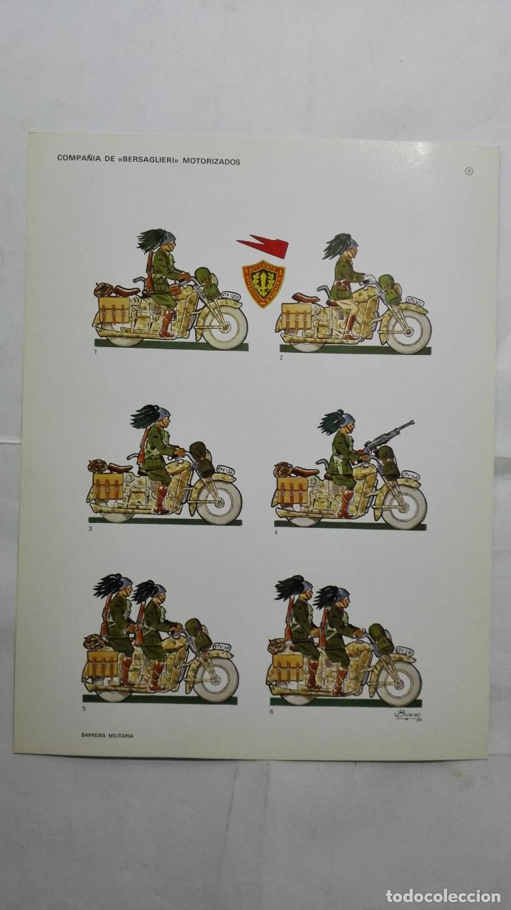 RECORTABLES, COMPAÑIA DE BERSAGLIERI, MOTORIZADOS - BARREIRA MILITARIA, Nº 31 (Coleccionismo - Recortables - Soldados)