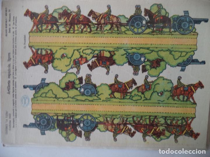 LA TIJERA SERIE 10 ARTILLERIA ESPAÑOLA LIGERA Nº 24 SOLDADOS RECORTABLES Y MONTABLES (Coleccionismo - Recortables - Soldados)