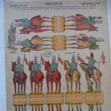Coleccionismo Recortables: LA TIJERA SERIE 10 LANCEROS SOLDADOS RECORTABLES Y MONTABLES Nº 19. Lote 194521823
