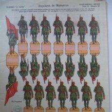 Coleccionismo Recortables: LA TIJERA SERIE 10 REGULARES DE MARRUECOS Nº 30 SOLDADOS RECORTABLES Y MONTABLES. Lote 194599305