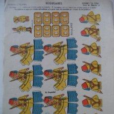 Coleccionismo Recortables: LA TIJERA SOLDADOS DE VOLUMEN SERIE 10 REGULARES. Lote 194600398