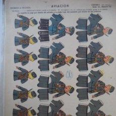 Coleccionismo Recortables: LA TIJERA SOLDADOS DE VOLUMEN SERIE 10 AVIACION Nº 46. Lote 194600552