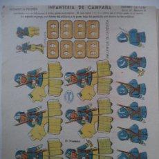 Coleccionismo Recortables: LA TIJERA SOLDADOS DE VOLUMEN SERIE 10 INFANTERIA DE CAMPAÑA Nº38. Lote 194600753
