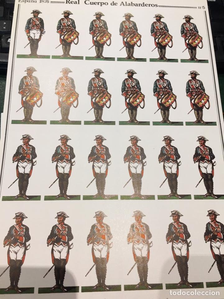 RECORTABLE LAMINA 5 REAL CUERPO DE ALABARDEROS ESPAÑA 1876 (Coleccionismo - Recortables - Soldados)