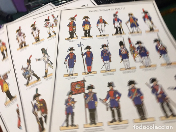 Coleccionismo Recortables: Recortables 1-2-3 y 4 Ejercito Español 1808 Guerra Independencia - Foto 2 - 195082815