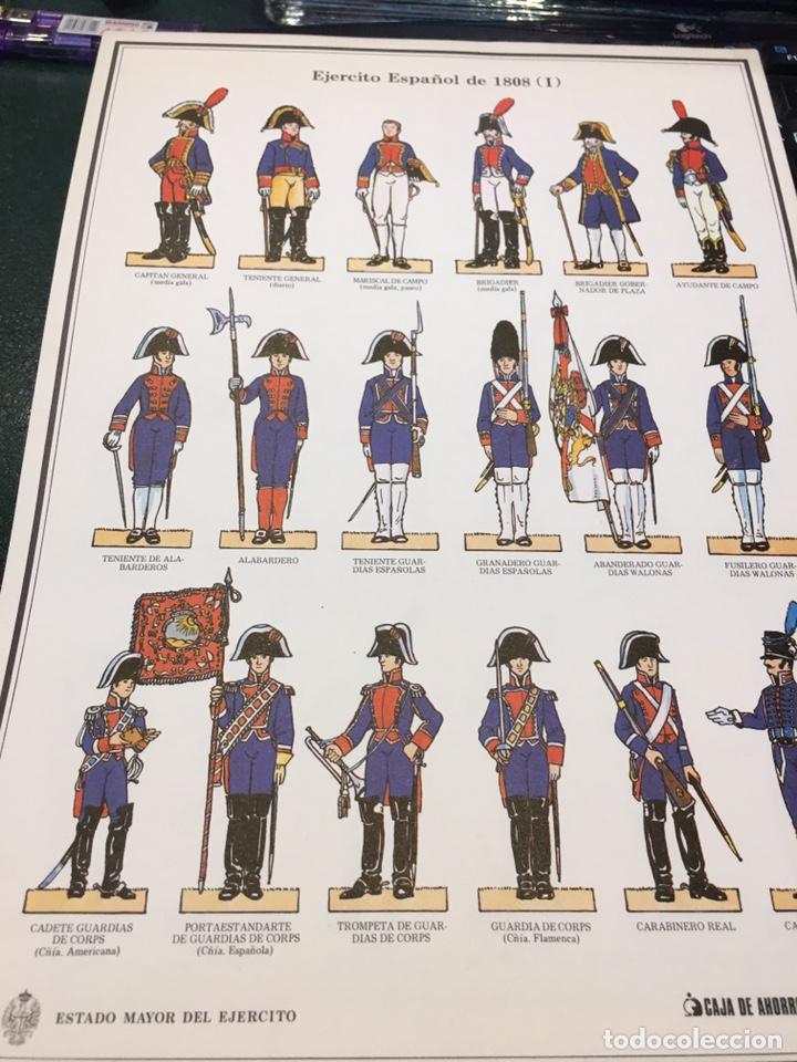Coleccionismo Recortables: Recortables 1-2-3 y 4 Ejercito Español 1808 Guerra Independencia - Foto 3 - 195082815