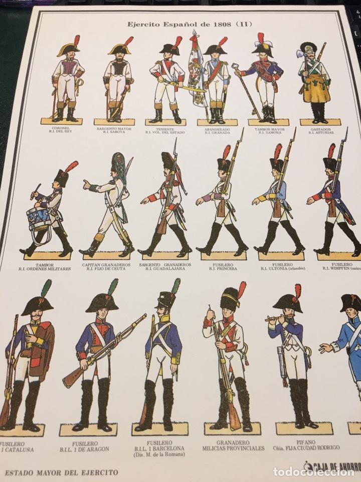 Coleccionismo Recortables: Recortables 1-2-3 y 4 Ejercito Español 1808 Guerra Independencia - Foto 4 - 195082815