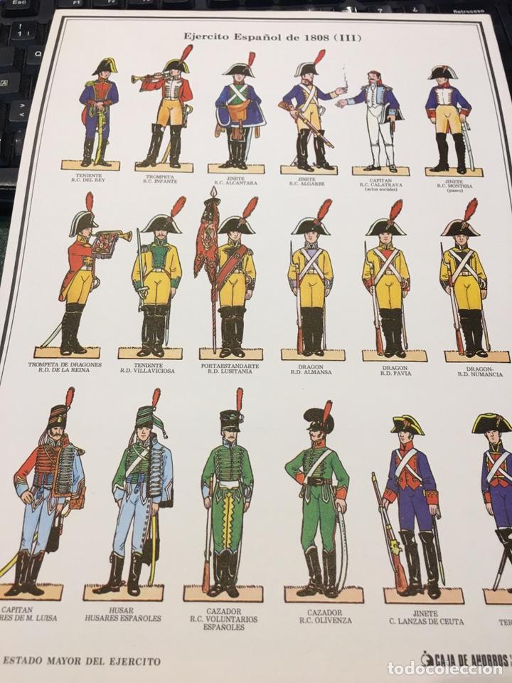 Coleccionismo Recortables: Recortables 1-2-3 y 4 Ejercito Español 1808 Guerra Independencia - Foto 5 - 195082815