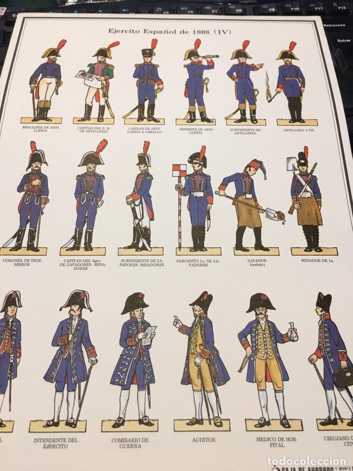 Coleccionismo Recortables: Recortables 1-2-3 y 4 Ejercito Español 1808 Guerra Independencia - Foto 6 - 195082815