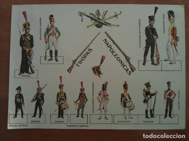 RECORTABLE TROPAS NAPOLEÓNICAS (Coleccionismo - Recortables - Soldados)