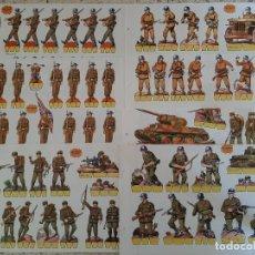 Coleccionismo Recortables: RECORTABLES: COLECCIÓN COMPLETA (8 RECORTABLES) - SERIE NARANJA SOLDADOS - EDITORIAL ROMA. Lote 209291057
