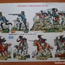 Coleccionismo Recortables: RECORTABLE : HUSARES E INFANTERÍA DE 1820 (B). Lote 207224581