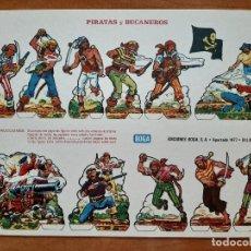 Coleccionismo Recortables: RECORTABLE: PIRATAS Y BUCANEROS (E). Lote 196764300