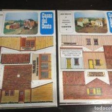 Coleccionismo Recortables: 2 LOTES CASAS DEL OESTE -TELÉGRAFOS Y HOTEL CAPITOL - SASTRERÍA Y CANTINA (REF11). Lote 199125011