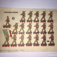 Coleccionismo Recortables: INFANTERIA ITALIANA RECORTABLES . Lote 201151515