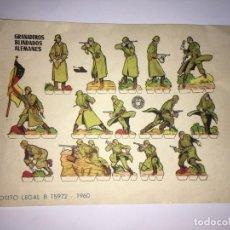 Coleccionismo Recortables: GRANADEROS BLINDADOS ALEMANES RECORTABLES. Lote 201151761