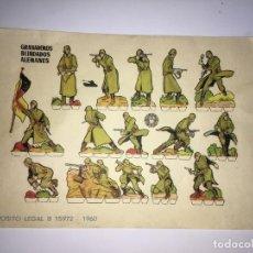 Coleccionismo Recortables: GRANADEROS BLINDADOS ALEMANES RECORTABLES. Lote 201151810