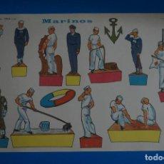 Coleccionismo Recortables: RECORTABLE DE MARINOS AÑO 1965 DE RECORTABLES EVA. Lote 217739611