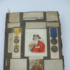 Coleccionismo Recortables: ALBUM DE RECORTE DE TEMATICA MILITAR SOBRE TODO INGLES, MILITARY SCRAPBOOK, AÑO 1880 / 1890, TIENE 6. Lote 202076011