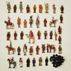 Coleccionismo Recortables: 41 RECORTABLES SOLDADOS DE ESPAÑA - PHOSKITOS JOSE MARIA BUENO UNIFORMES CROMOS. Lote 202768820