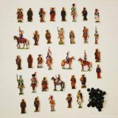 Coleccionismo Recortables: 34 RECORTABLES SOLDADOS DE ESPAÑA - PHOSKITOS JOSE MARIA BUENO UNIFORMES CROMOS. Lote 202769202