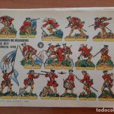 Coleccionismo Recortables: RECORTABLE SOLDADOS DEL REGIMIENTO DEL REY - FRANCIA 1743. Lote 205019848