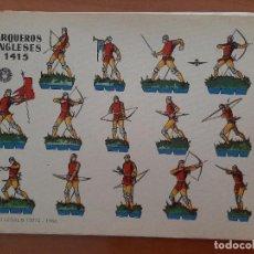 Coleccionismo Recortables: BRUGUERA :10 RECORTABLES DIVERSOS MILITARES INGLESES - GRANDES. Lote 232256040