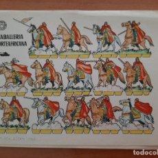 Coleccionismo Recortables: RECORTABLE CABALLERÍA NORTEAFRICANA. Lote 205067571