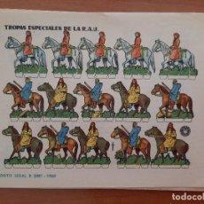 Coleccionismo Recortables: RECORTABLE TROPAS ESPECIALES DE LA R. A. U.. Lote 205069670