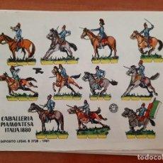 Coleccionismo Recortables: RECORTABLE CABALLERÍA PIAMONTESA ITALIA 1880. Lote 205070081