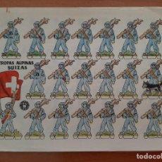 Coleccionismo Recortables: RECORTABLE TROPAS ALPINAS SUIZAS. Lote 205070993