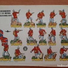 Coleccionismo Recortables: RECORTABLE 2º REGIMIENTO DE LA REINA (INGLATERRA 1895). Lote 205071221
