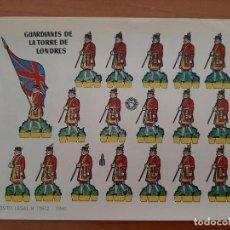 Coleccionismo Recortables: RECORTABLE GUARDIANES DE LA TORRE DE LONDRES. Lote 205071605