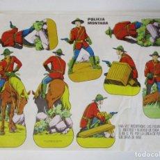 Coleccionismo Recortables: ANTIGUO RECORTABLE CON LA POLICIA MONTADA DEL CANADA EDITA ESTAMPAS DE ESPAÑA MIDE 34 X 24 CMS. Lote 206435571