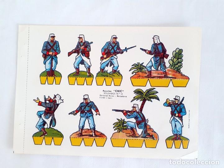 RECORTABLE SOLDADOS RECORTES CHIC EDITORIAL ROMA 16 (Coleccionismo - Recortables - Soldados)