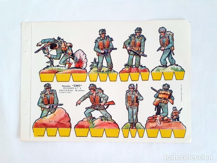 RECORTABLE SOLDADOS RECORTES CHIC EDITORIAL ROMA 3 (Coleccionismo - Recortables - Soldados)