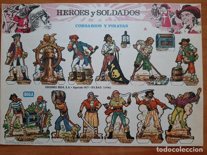 RECORTABLE : CORSARIOS Y PIRATAS (A) (Coleccionismo - Recortables - Soldados)