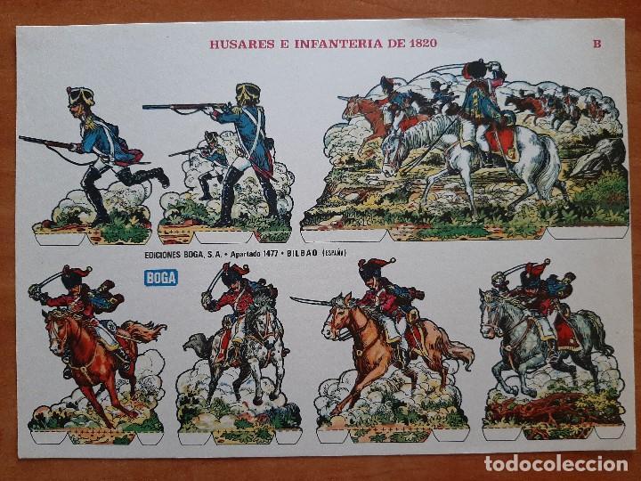 RECORTABLE : HUSARES E INFANTERÍA DE 1820 (B) (Coleccionismo - Recortables - Soldados)
