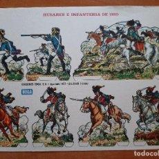 Coleccionismo Recortables: RECORTABLE : HUSARES E INFANTERÍA DE 1820 (B). Lote 210622956