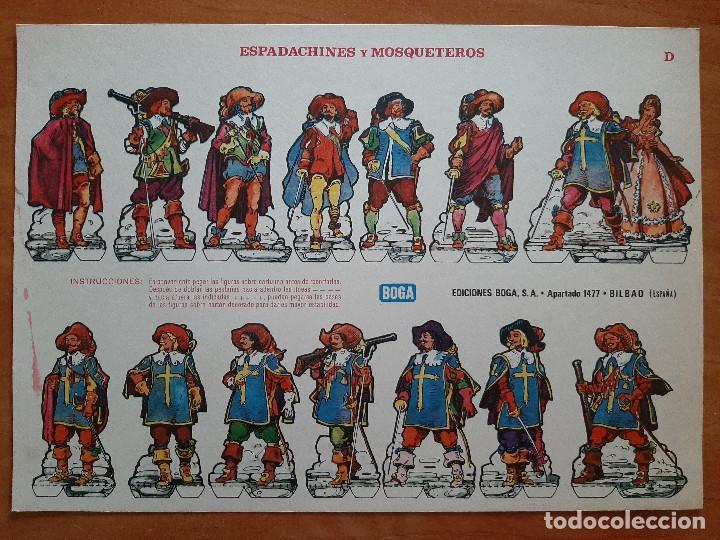 RECORTABLE : ESPADACHINES Y MOSQUETEROS (D) (Coleccionismo - Recortables - Soldados)