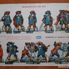 Coleccionismo Recortables: RECORTABLE: MOSQUETEROS DEL REY. Lote 210623092