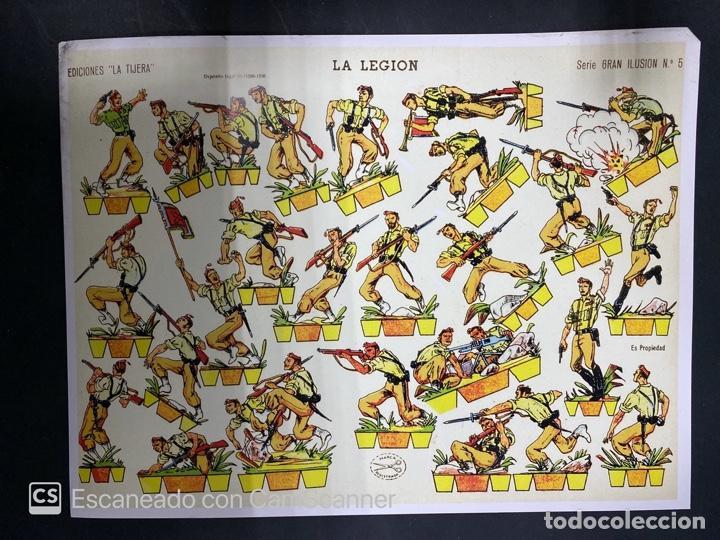 Coleccionismo Recortables: LOTE DE 6 RECORTABLES DE LA LEGION. EDICIONES LA TIJERA. SERIE GRAN ILUSION Nº 5. MADRID, 1958. - Foto 4 - 212474180
