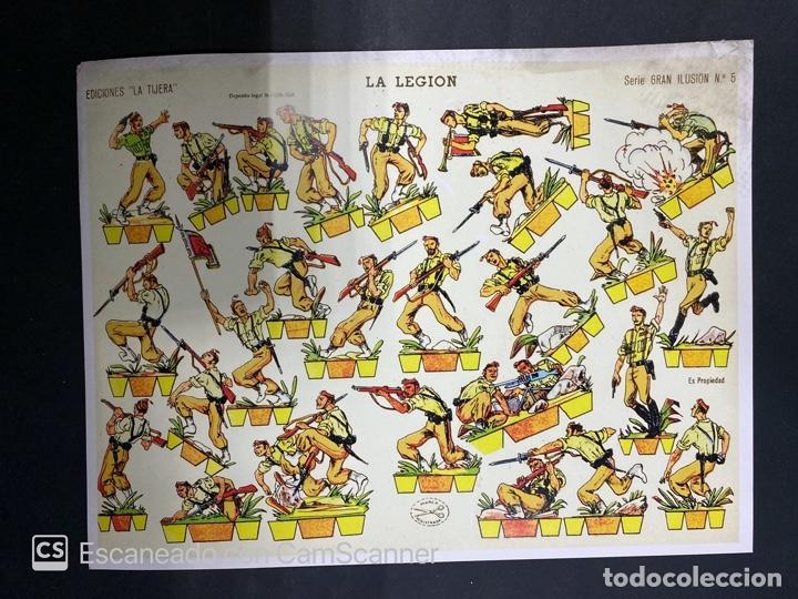 Coleccionismo Recortables: LOTE DE 6 RECORTABLES DE LA LEGION. EDICIONES LA TIJERA. SERIE GRAN ILUSION Nº 5. MADRID, 1958. - Foto 5 - 212474180