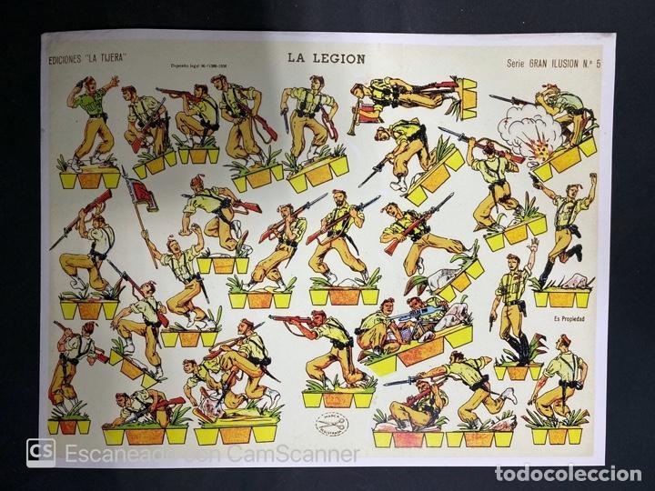 Coleccionismo Recortables: LOTE DE 6 RECORTABLES DE LA LEGION. EDICIONES LA TIJERA. SERIE GRAN ILUSION Nº 5. MADRID, 1958. - Foto 6 - 212474180