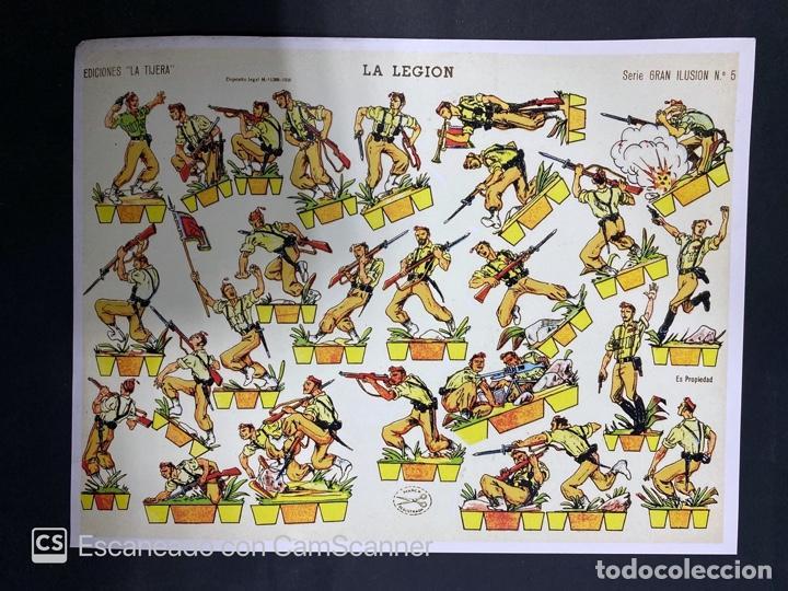 Coleccionismo Recortables: LOTE DE 6 RECORTABLES DE LA LEGION. EDICIONES LA TIJERA. SERIE GRAN ILUSION Nº 5. MADRID, 1958. - Foto 7 - 212474180