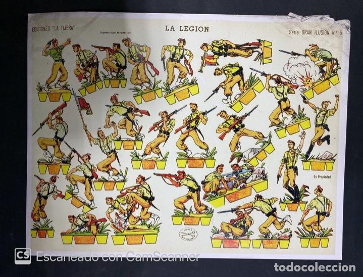 Coleccionismo Recortables: LOTE DE 6 RECORTABLES DE LA LEGION. EDICIONES LA TIJERA. SERIE GRAN ILUSION Nº 5. MADRID, 1958. - Foto 8 - 212474180