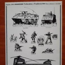 Coleccionismo Recortables: RECORTABLE ESPAÑA 1985 - VEHÍCULOS Y FUSILEROS. Lote 289832178