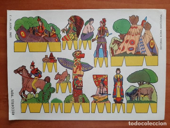 Coleccionismo Recortables: RECORTES PEPI : SERIE DEL OESTE EJEMPLARES DEL 1 AL 8 - Foto 2 - 215158728