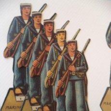 Coleccionismo Recortables: MARINA DE GUERRA 5 SOLDADOS MARINEROS SALIAN EN SOBRES SORPRESA DURANTE LA GUERRA CIVIL. Lote 215252916