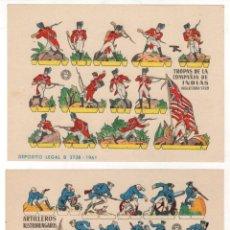Coleccionismo Recortables: LOTE DE 4 SOLDADOS DE PAPEL. RECORTABLES MILITARES. AÑO 1961. Lote 217912593